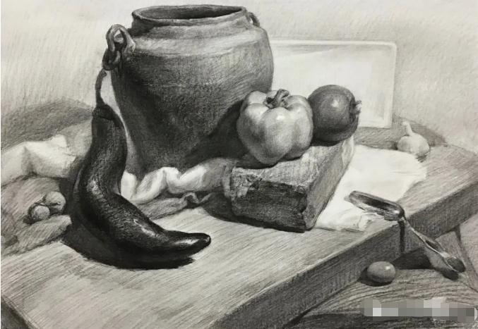 杭州艺考画室素描教程:素描关系是深入刻画的合理,12