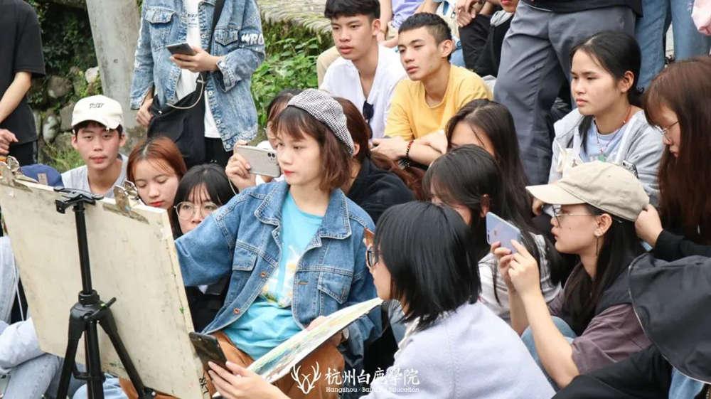 杭州艺考画室白鹿写生季 | 秋天的第一场写生未完待续,24
