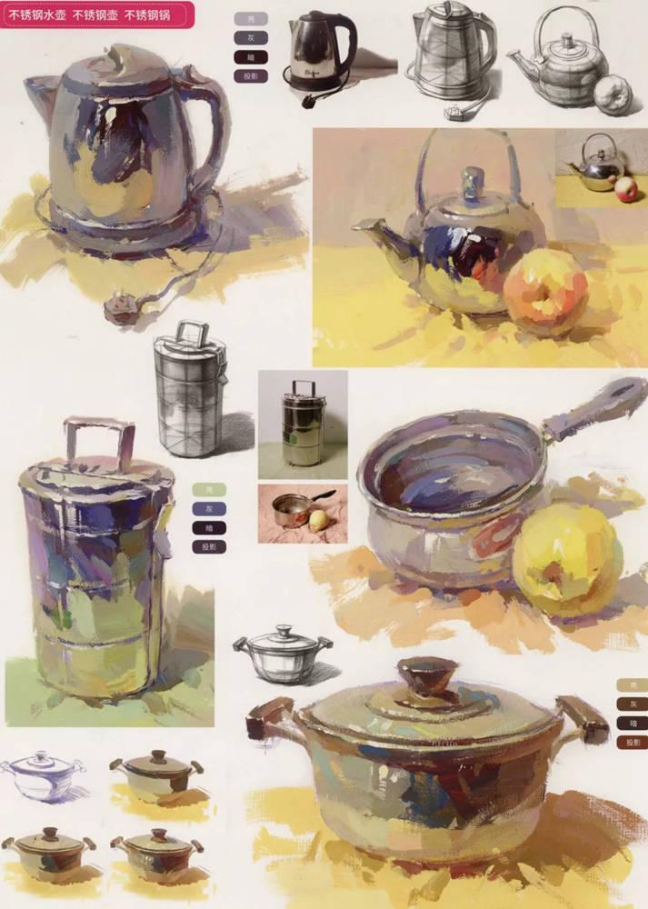 陶瓷、玻璃,金属这些难画的物品,杭州艺考画室给你解析,18