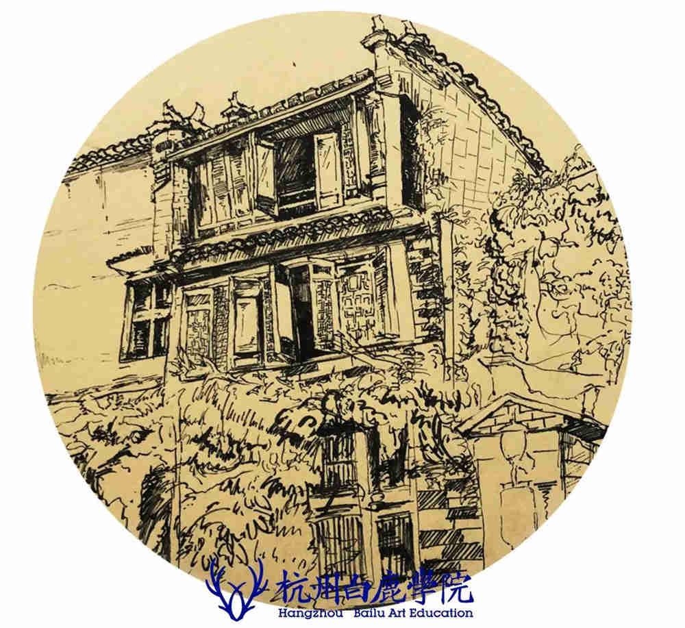 杭州艺考画室写生季 | 杭州白鹿学院下乡写生通知及注意事项,93