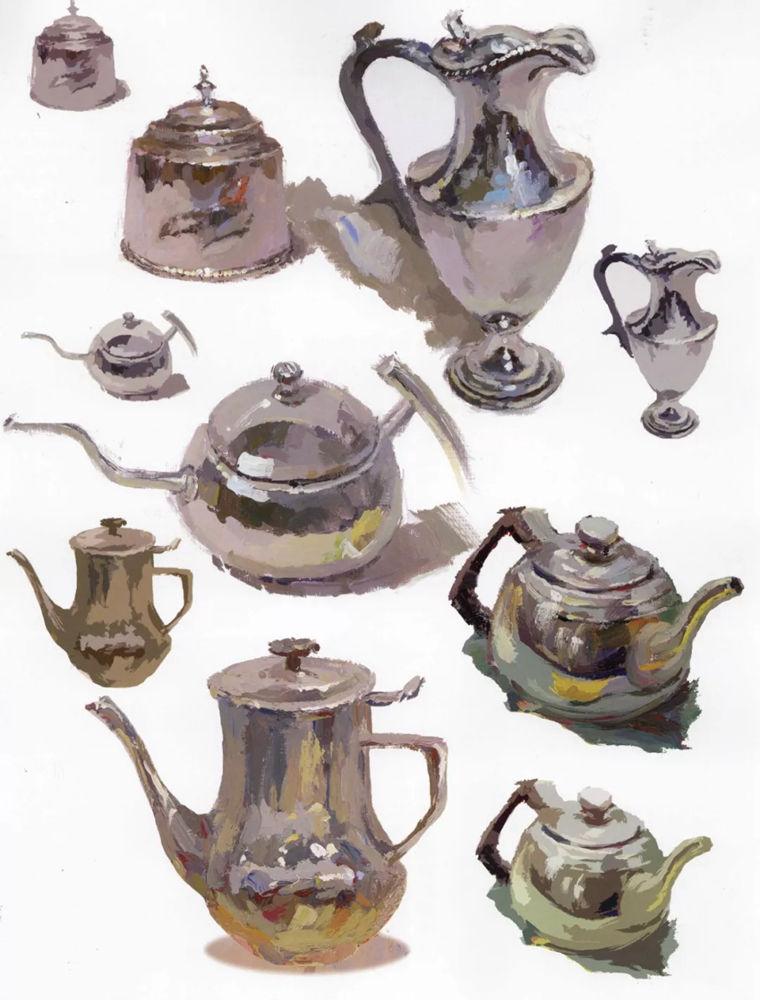 陶瓷、玻璃,金属这些难画的物品,杭州艺考画室给你解析,25