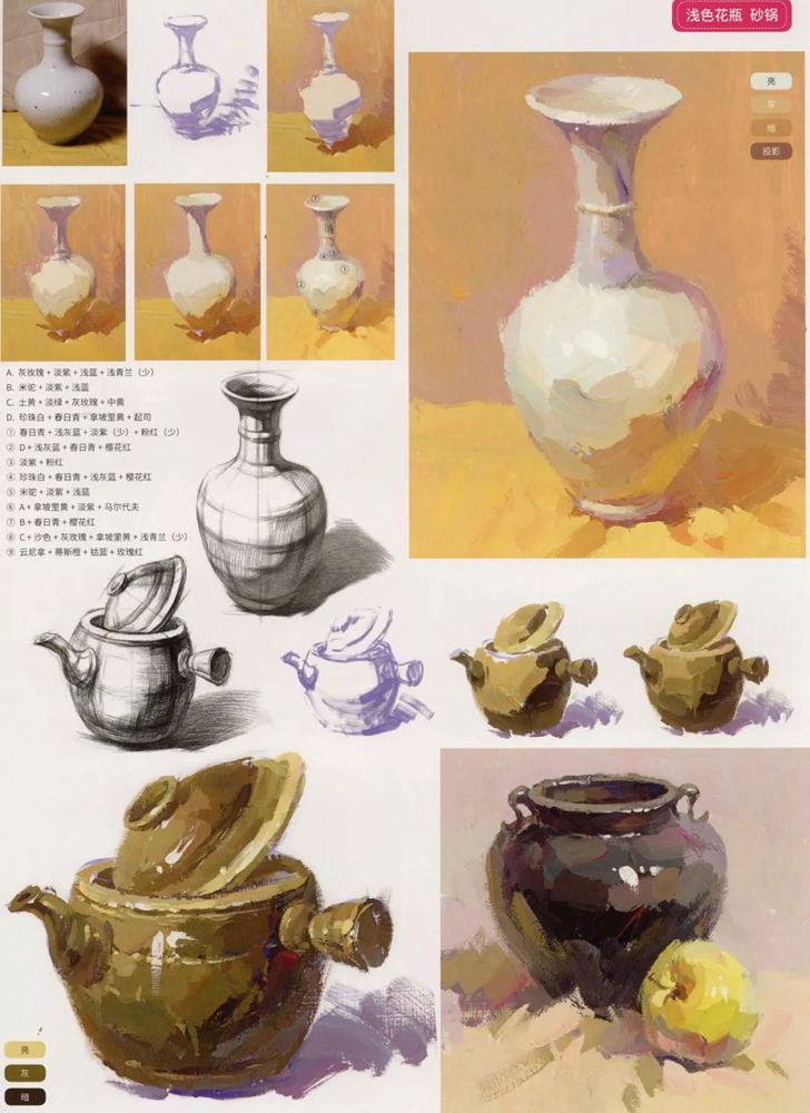 陶瓷、玻璃,金属这些难画的物品,杭州艺考画室给你解析,07