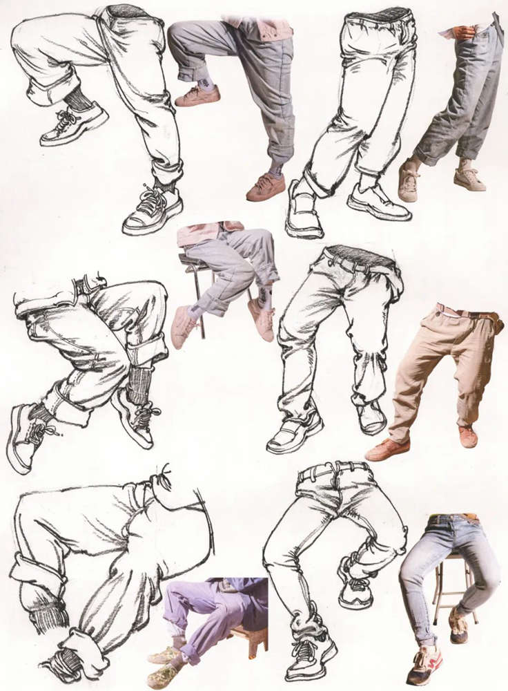 杭州艺考画室超强干货丨速写下肢怎么画?观察是关键,16