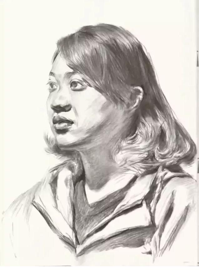 杭州艺考画室素描教学|教你画微胖女青年素描头像,06