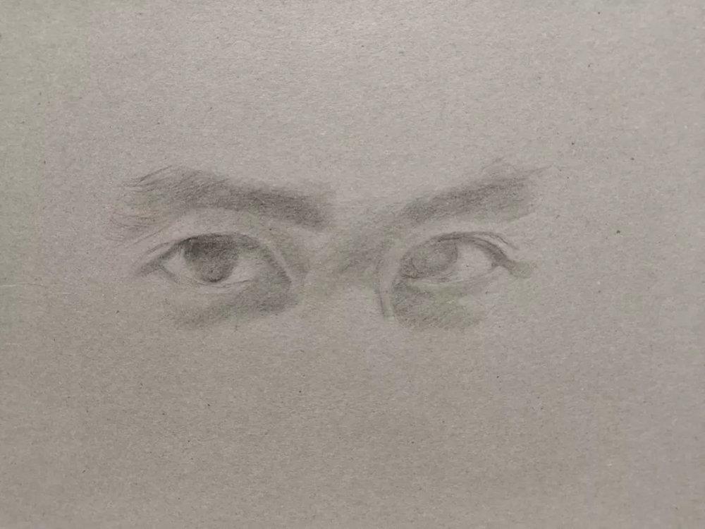 杭州艺考画室彩铅教程|画一双男神的眼睛,03