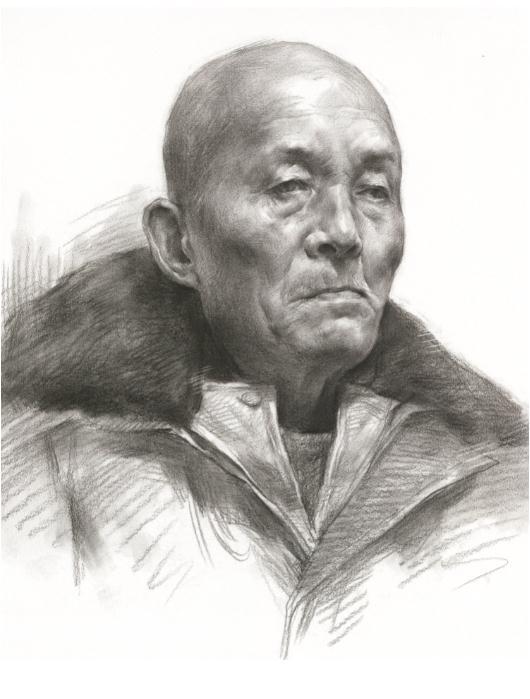 杭州艺考画室教你素描头像刻画之老中青的皮肤质感如何表现,01
