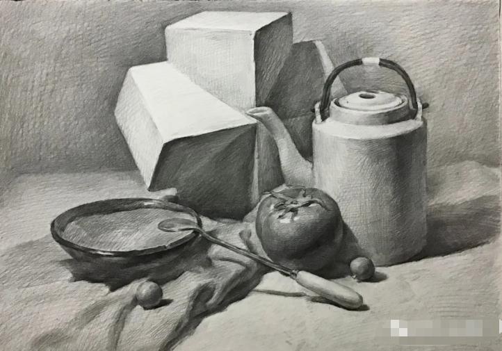 杭州艺考画室素描教程:素描关系是深入刻画的合理,01