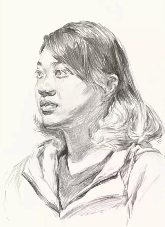 杭州艺考画室素描教学|教你画微胖女青年素描头像,05