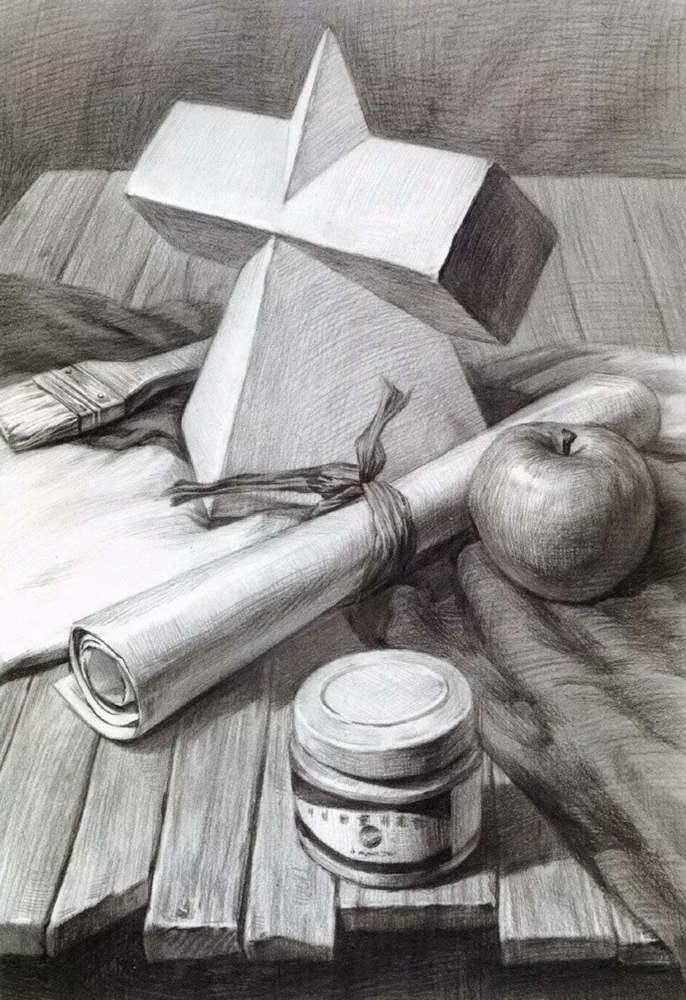 静物素描太难,杭州艺考画室整理的详细教程在里面,12