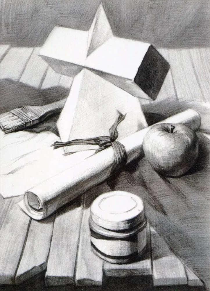 静物素描太难,杭州艺考画室整理的详细教程在里面,11