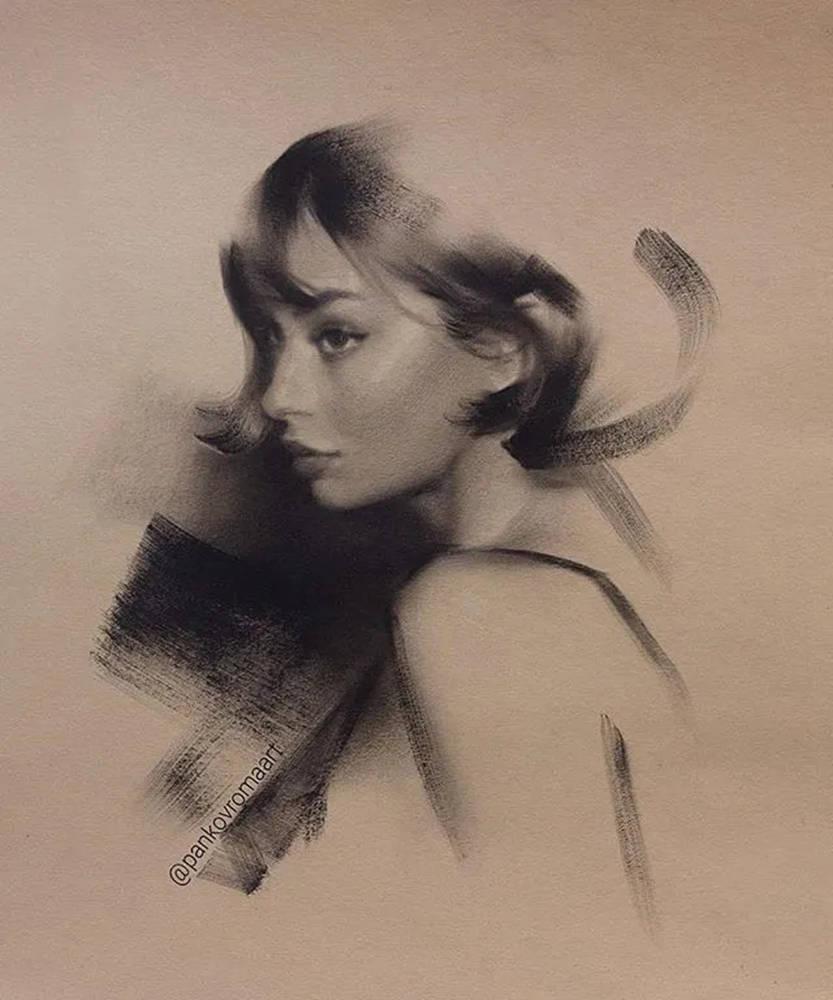 杭州艺考画室整理的一眼就爱的素描,这松动的笔触绝了,16