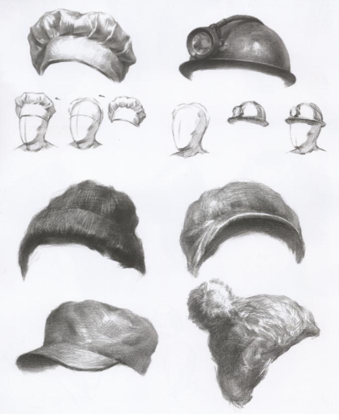 杭州艺考画室教你刻画素描头像中的眼镜、帽子和围巾,04