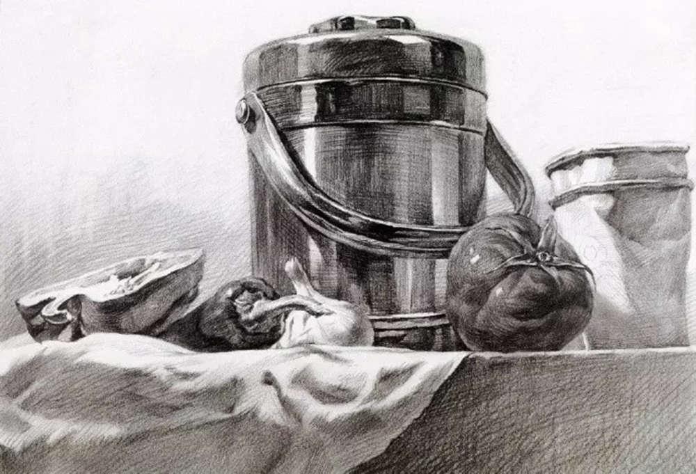静物素描太难,杭州艺考画室整理的详细教程在里面,24