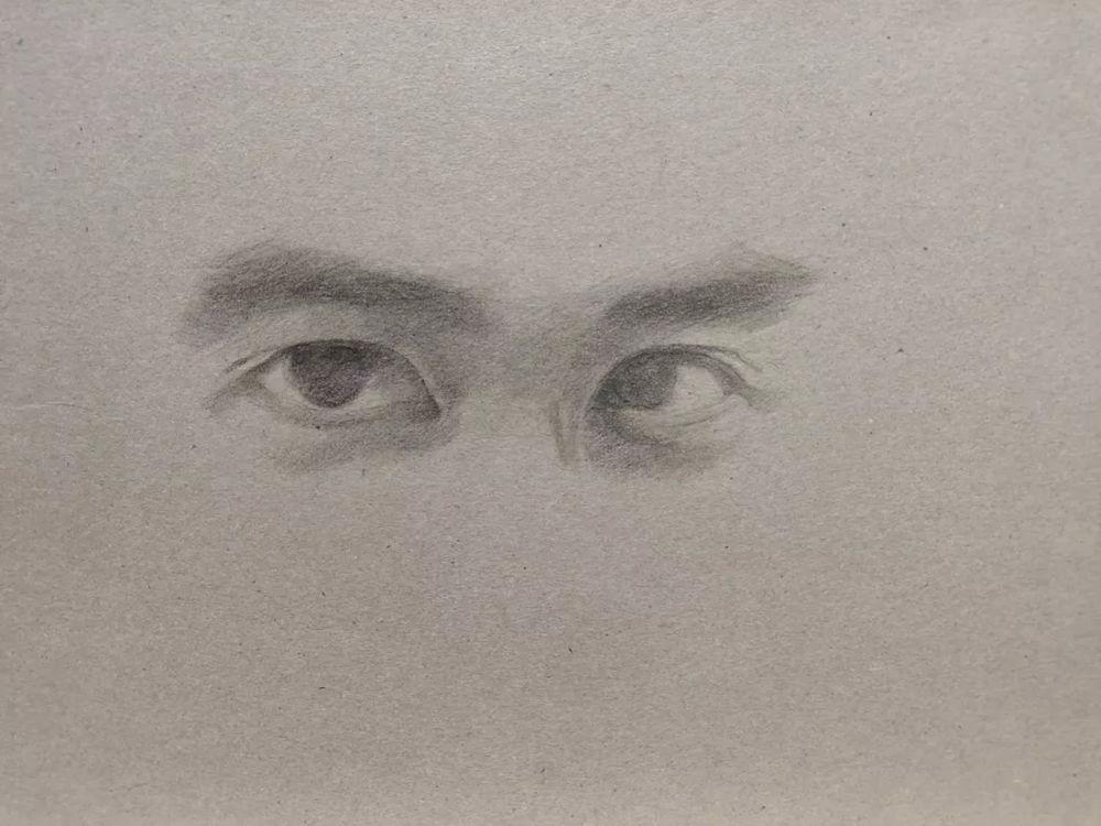 杭州艺考画室彩铅教程|画一双男神的眼睛,04