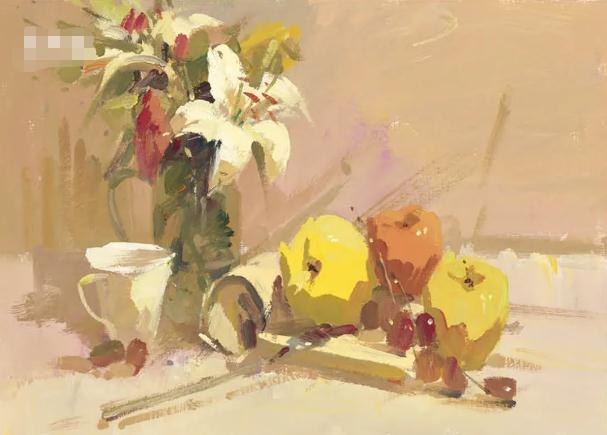 杭州艺考画室色彩静物教程:水果的暗部总是画得脏兮兮的,11