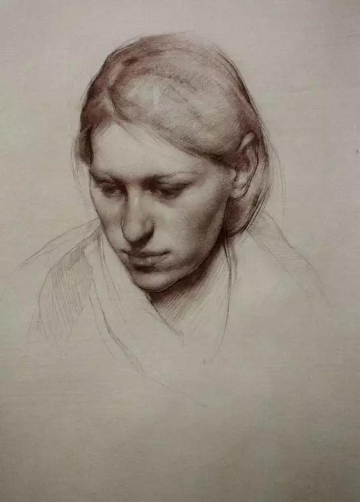 如何处理好人物素描的头像?杭州艺考画室带你看看这些作品,17
