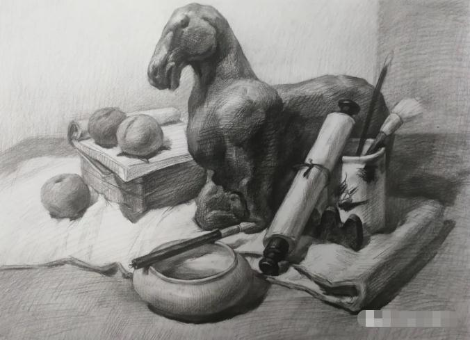 杭州艺考画室素描教程:素描关系是深入刻画的合理,11