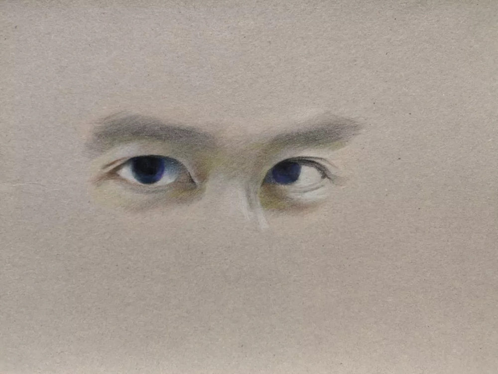 杭州艺考画室彩铅教程|画一双男神的眼睛,12