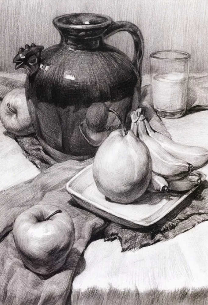 静物素描太难,杭州艺考画室整理的详细教程在里面,16
