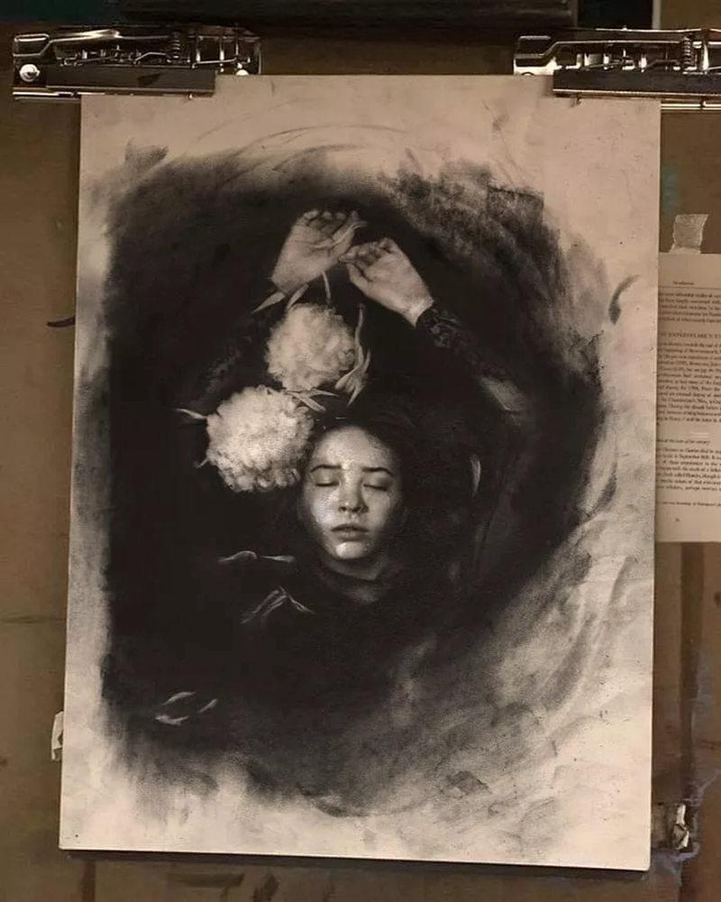 杭州艺考画室整理的一眼就爱的素描,这松动的笔触绝了,50