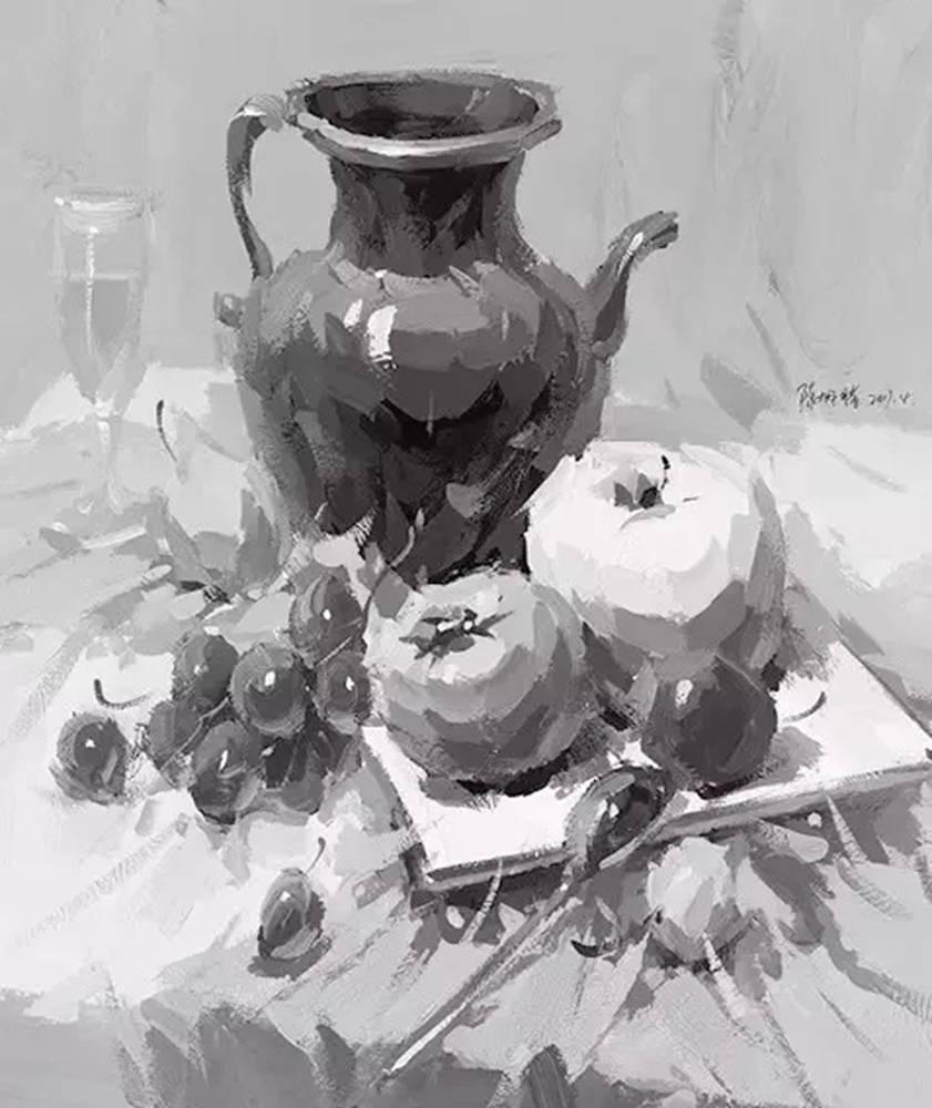 陶瓷、玻璃,金属这些难画的物品,杭州艺考画室给你解析,02