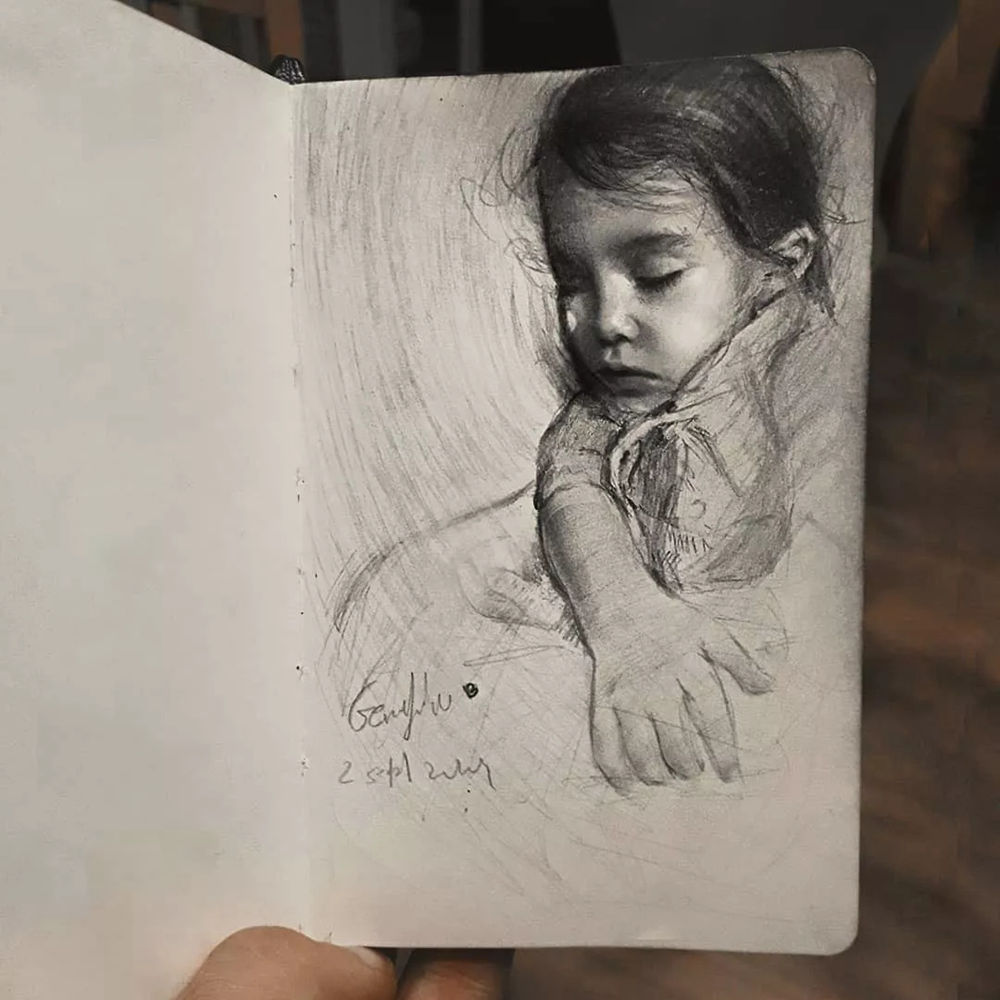 杭州艺考画室整理的一眼就爱的素描,这松动的笔触绝了,54